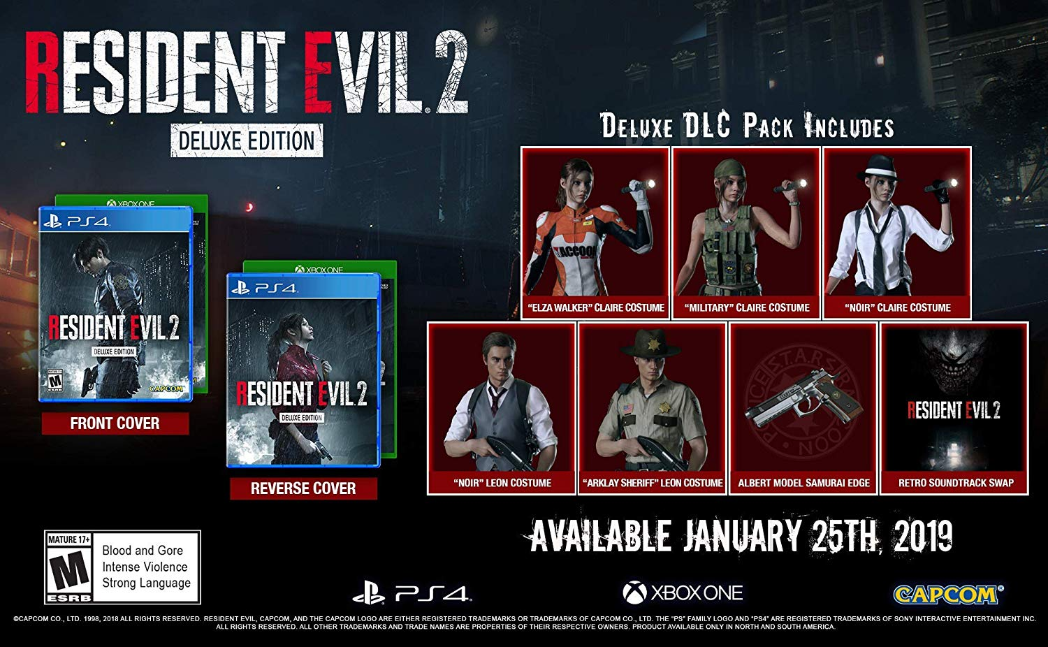 RE2 Resident Evil 2 DELUXE for XBOX ONE