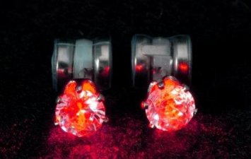 Brinco Original Night Ice LED Earrings (Red)