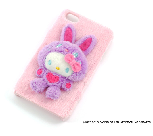 Case Hello Kitty FuwaFuwa Rosa para iPhone 4G