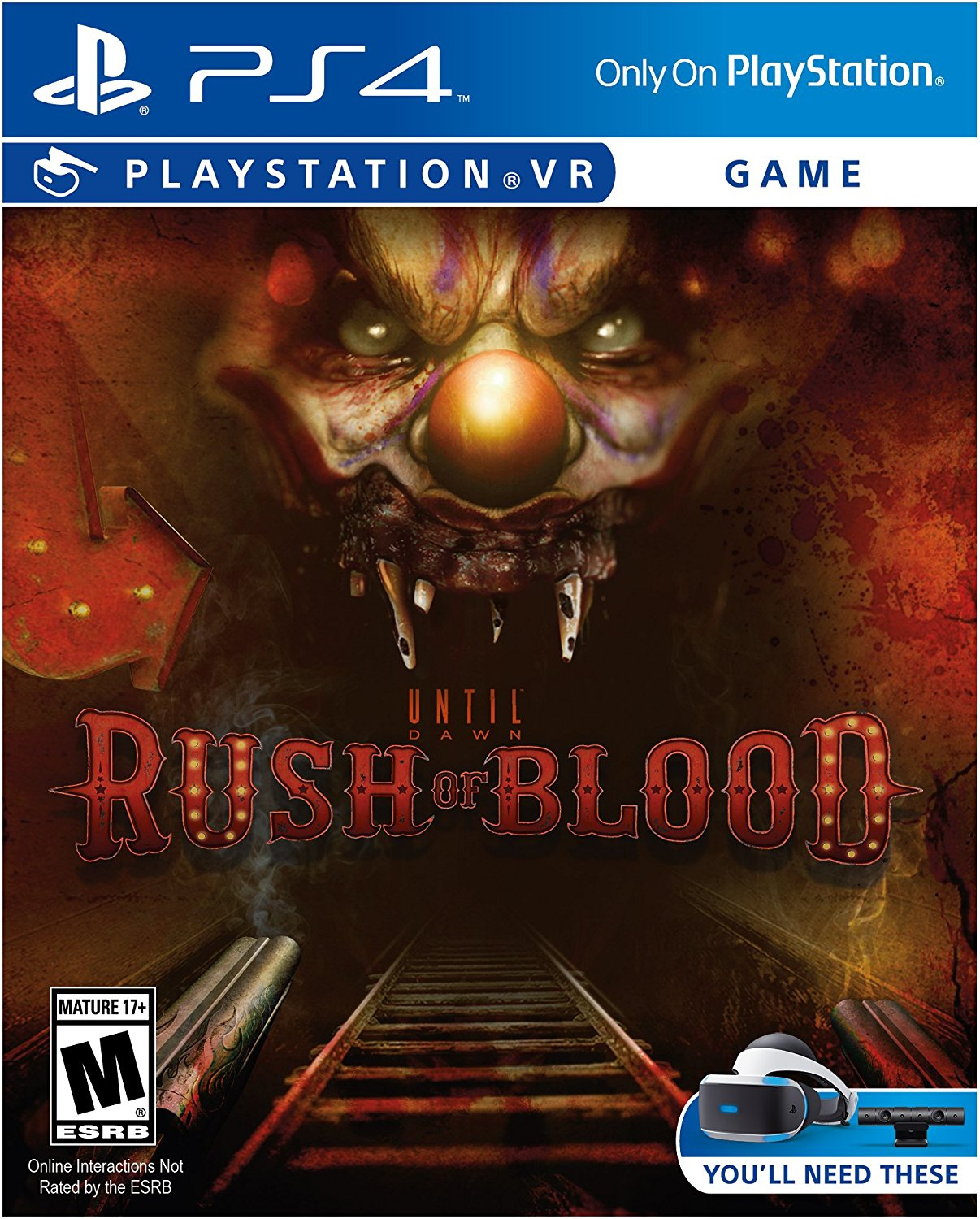 PS4 PSVR Until Dawn: Rush of Blood Portugues e Espanol