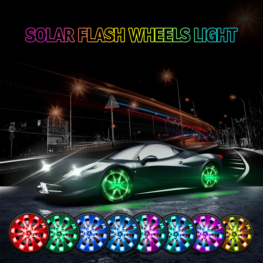 Solar Flash Wheels Light com Controle Remoto