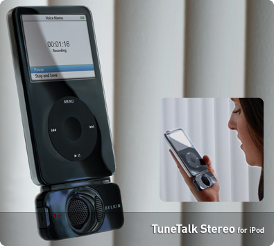 Gravador de Voz - TuneTalk™ Stereo for iPod® Video