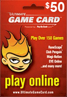 Ultimate Game Card $50.00 (World Wide)