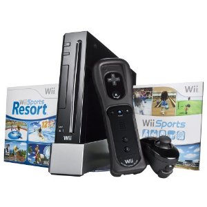 Nintendo Wii Black US (incluido Wii Sports e Wii Sports Resort)